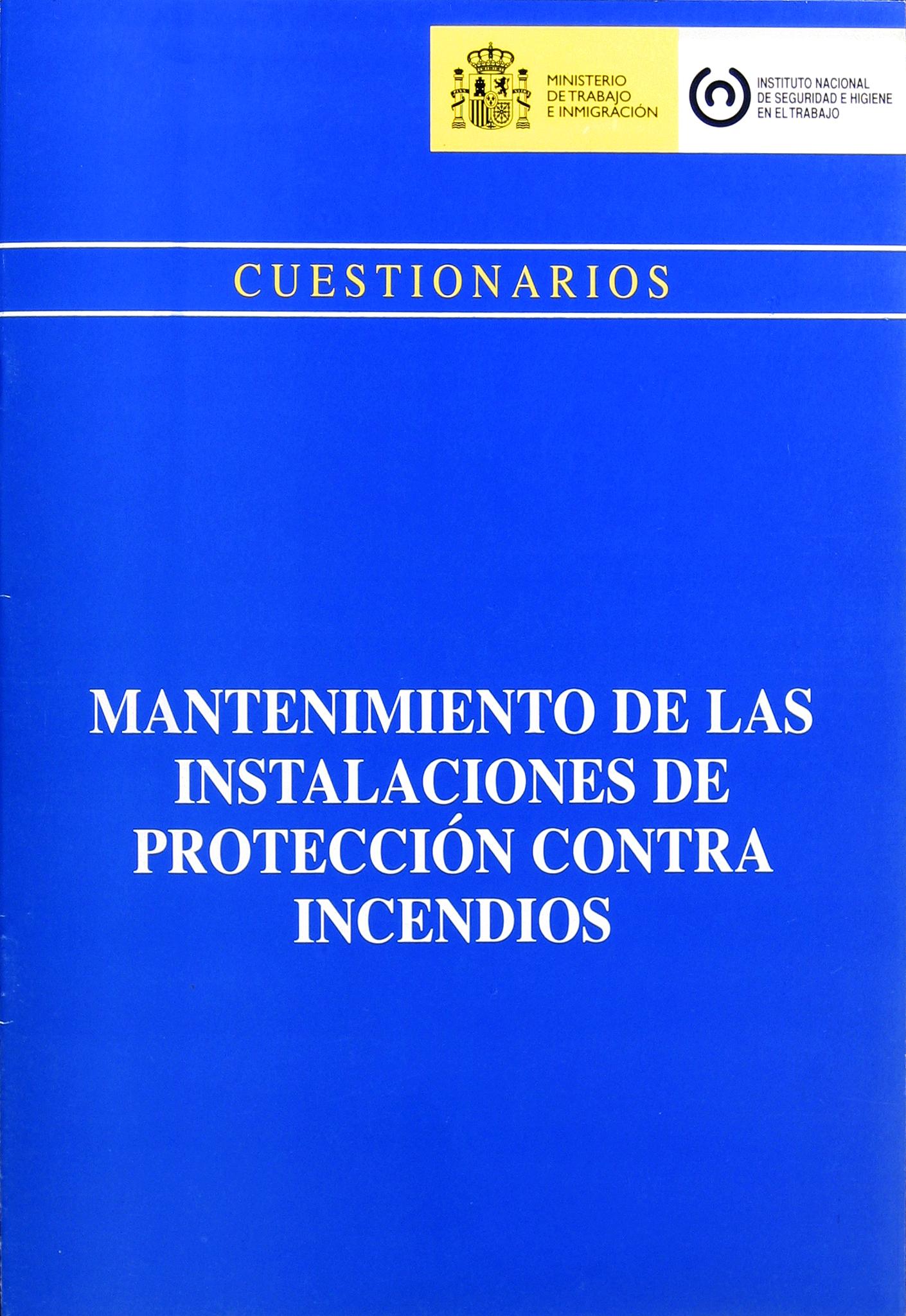 Mantenimiento de las instalaciones de protección contra incendios - Año 2008