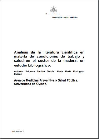Análisis de la literatura científica en materia de condiciones de trabajo y salud en el sector de la madera: un estudio bibliográfico
