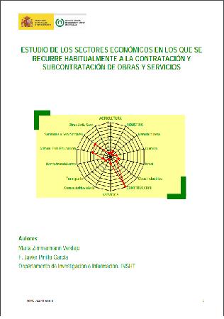 Contratación y subcontratación en obras y servicios Estudios de sectores económicos más afectados