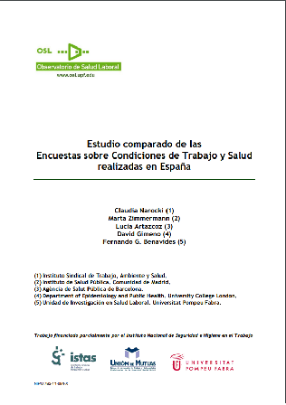 Estudio comparado de encuestas sobre condiciones de trabajo y salud realizadas en España