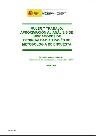 Mujer y trabajo: aproximación al análisis de indicadores de desigualdad a través de metodología de encuesta